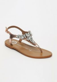 Les Bagatelles - GENIA   - T-bar sandals - rose gold - 1