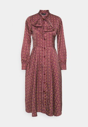 BOW DRESS - Shirt dress - maroon