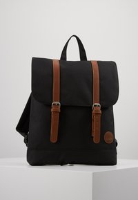Enter - CITY BACKPACK MINI FRONT STRAPS - Reppu - black - 0