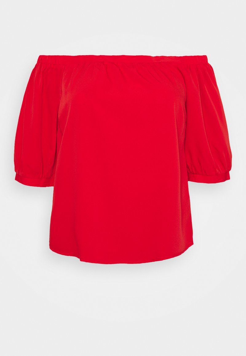 CAPSULE by Simply Be - PUFF 3/4 SLEEVE BARDOT - Blouse - bright red
