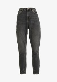 Topshop - HEM MOM - Džíny Relaxed Fit - washed black - 3