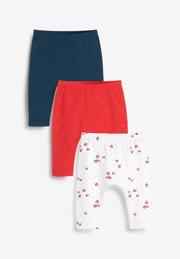 3 PIECE PACK STRAWBERRY  - Leggings - Trousers - blue / red