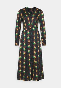 Scotch & Soda - PRINTED V-NECK MIDI LENGTH DRESS WITH PLEATS - Košilové šaty - combo - 4