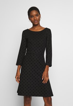 FLOCK DRESS - Jersey dress - black