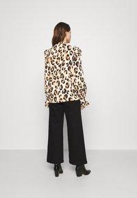 Fabienne Chapot - LEO FRILL BLOUSE - Long sleeved top - beige/black/brown - 2