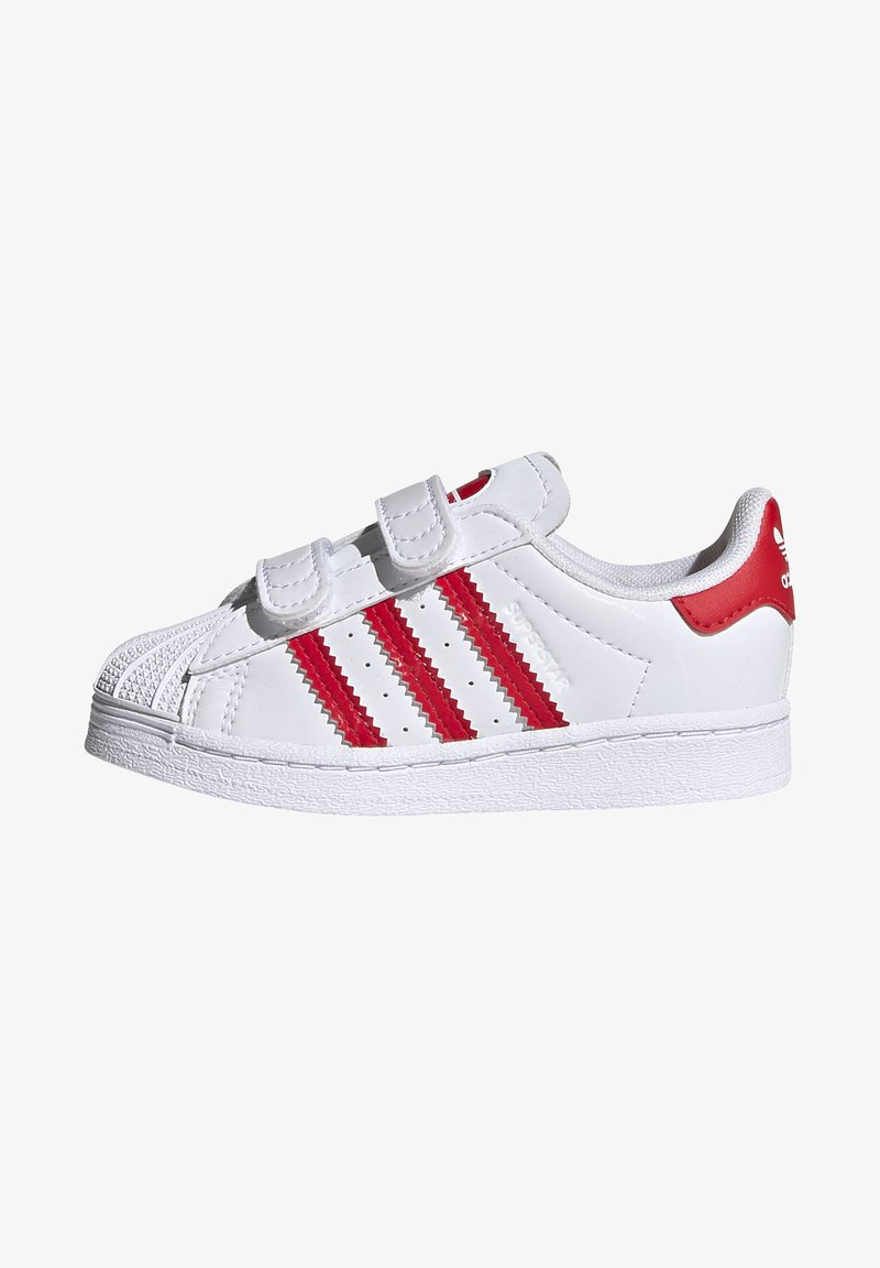 adidas Originals - SUPERSTAR SHOES - Sneakers laag - ftwr white/vivid red