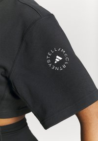 adidas by Stella McCartney - CROP TEE - T-shirt print - black - 4