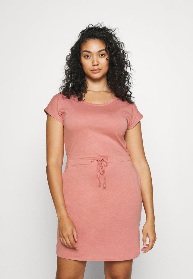 VMAPRIL SHORT DRESS - Žerzejové šaty - old rose