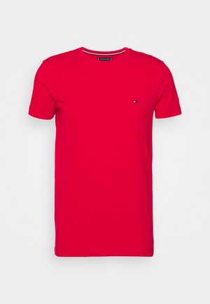 STRETCH SLIM FIT TEE - Basic T-shirt - coral