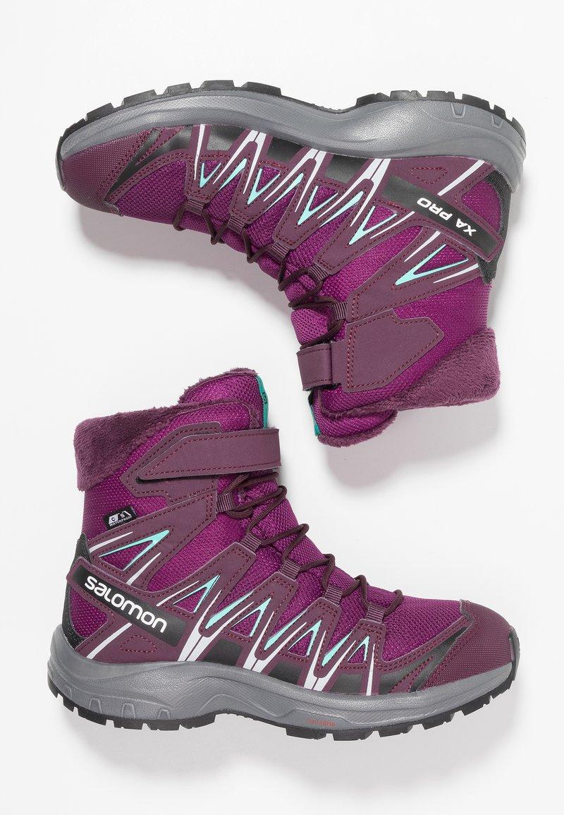 Salomon - XA PRO 3D WINTER TS CSWP - Winter boots - dark purple/potent purple/atlantis