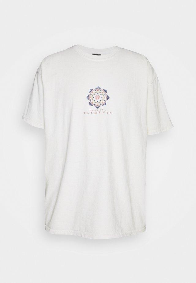 MANDALA TEE UNISEX - Print T-shirt - ecru