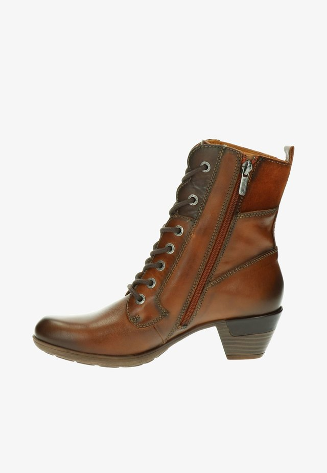 ROTTERDAM - Lace-up ankle boots - cognac