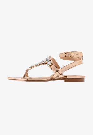 ELISE - T-bar sandals - rose gold