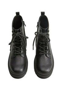 Mango - MARTINA - Lace-up ankle boots - černá - 1