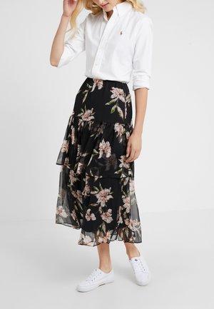 CRINKLE SKIRT - A-line skirt - black/multi