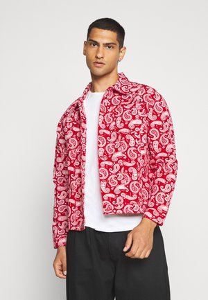 NASULLY - Denim jacket - red denim