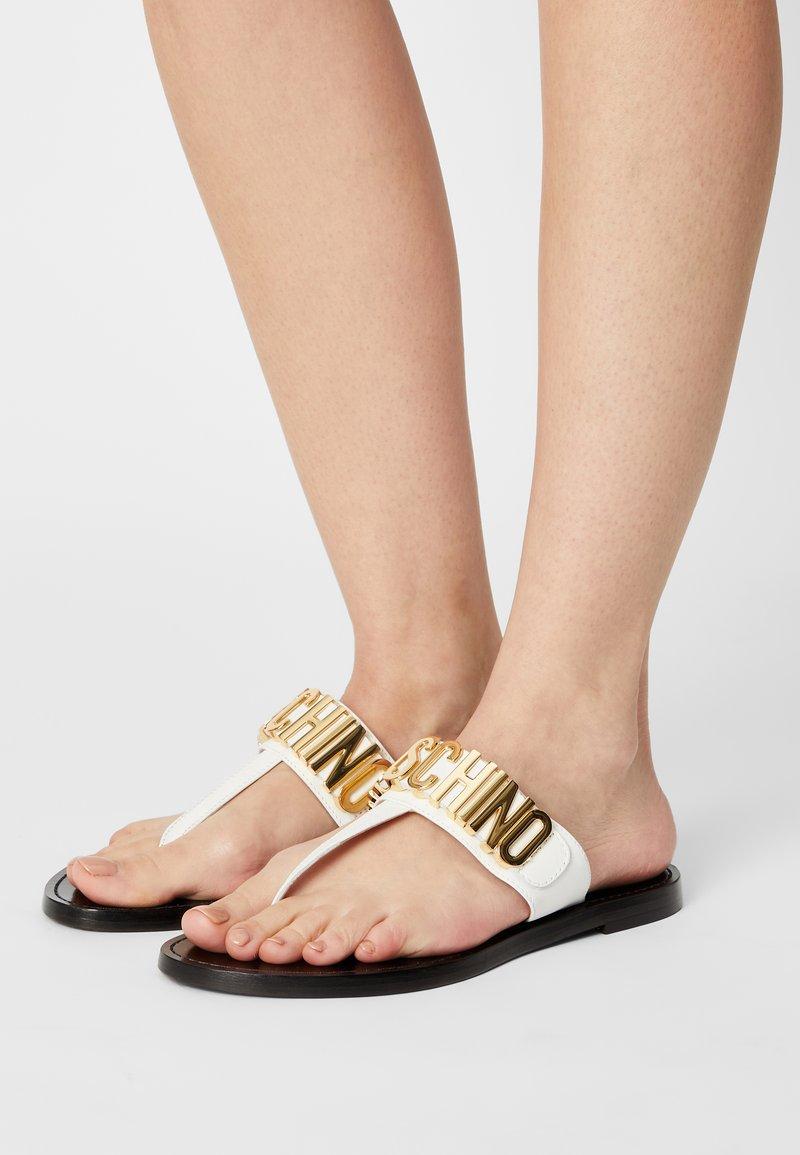 MOSCHINO - T-bar sandals - bianco
