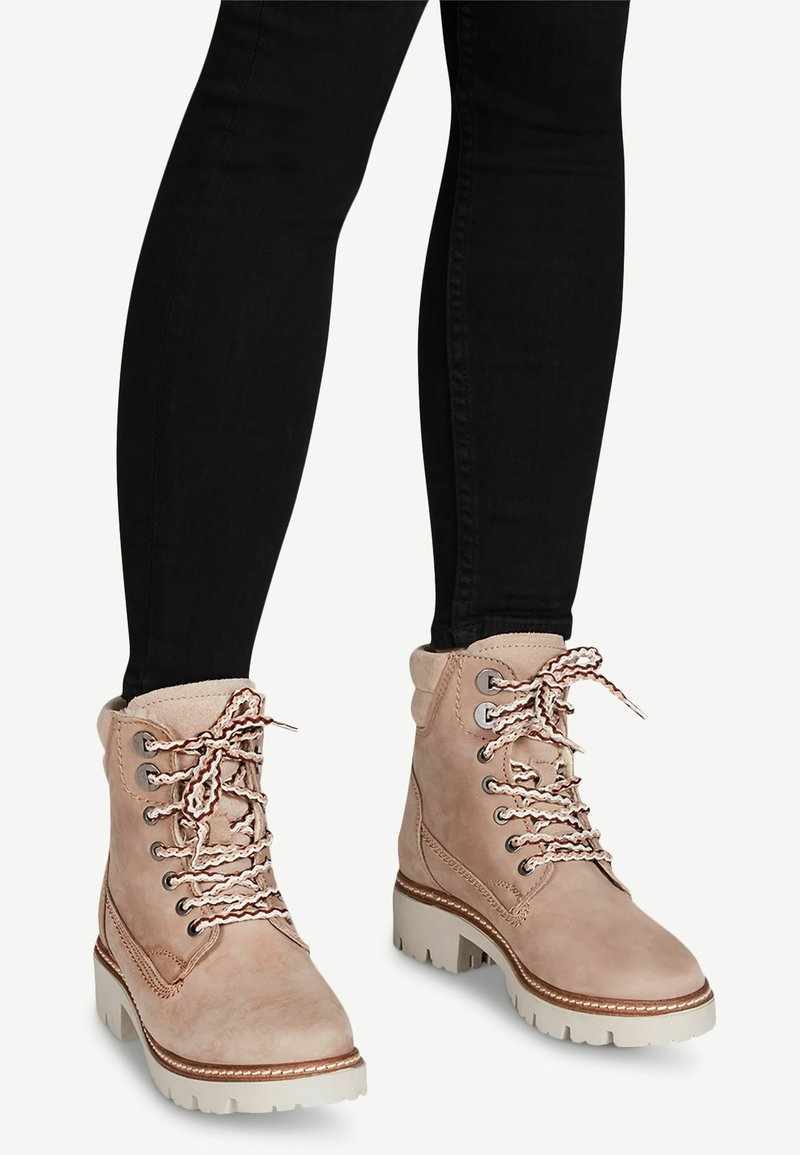 Tamaris - Lace-up ankle boots - taupe