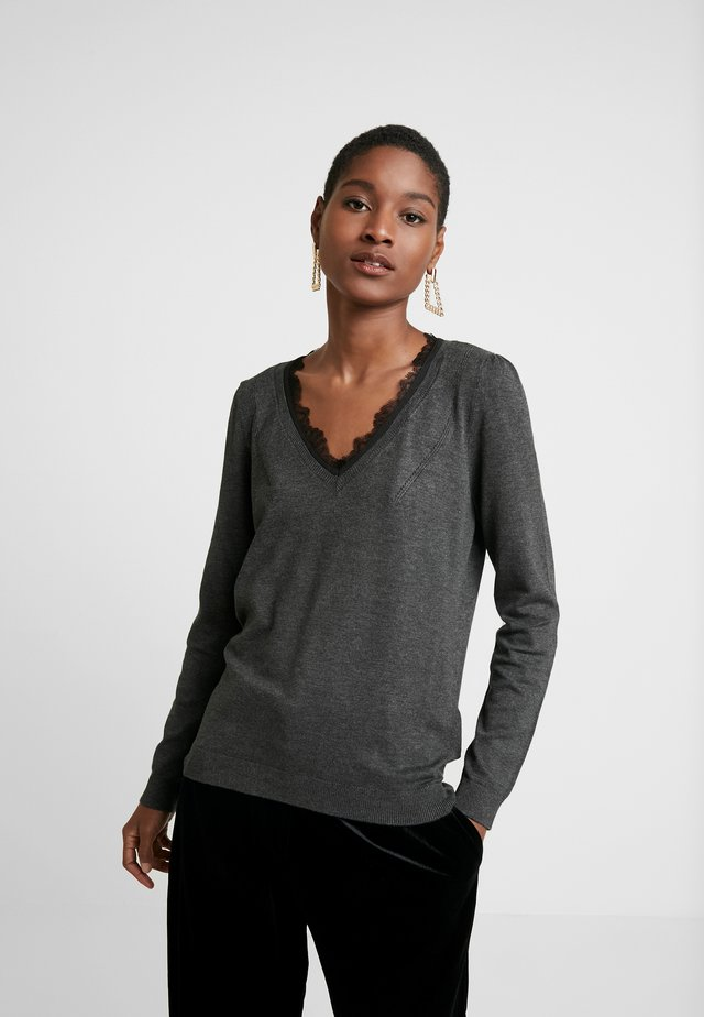 MITOU LONG NEW - Strikpullover /Striktrøjer - gris anthracite chine