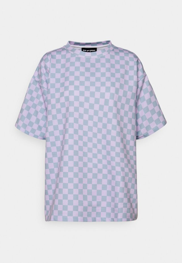 CHECKERBOARD TEE - Print T-shirt - multi
