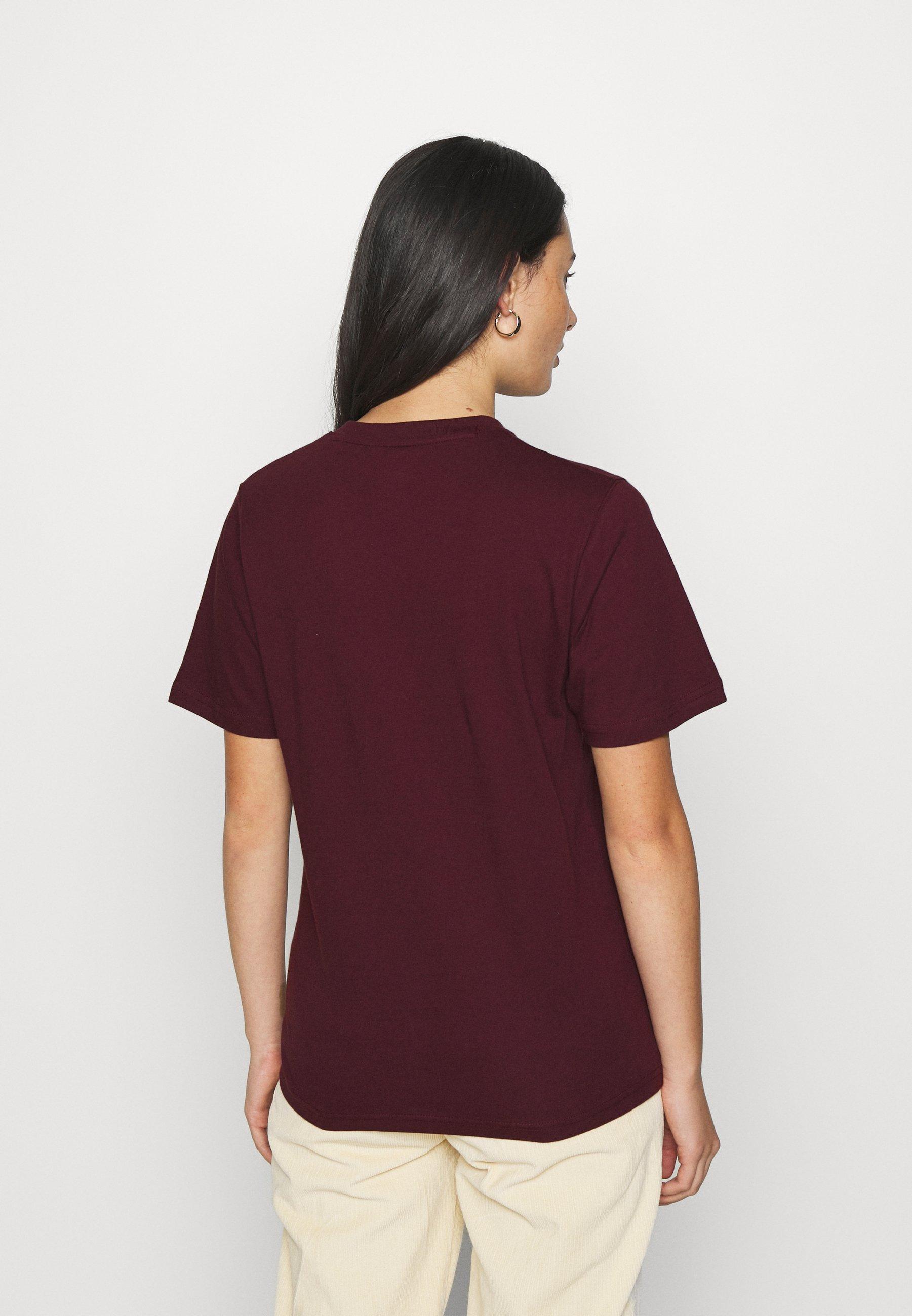 Dickies Horseshoe Tee - T-shirts Med Print Maroon/vinrød
