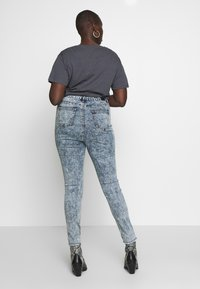 Simply Be - HIGH WAIST BUTTON FLY - Jeans Skinny Fit - blue acid - 2