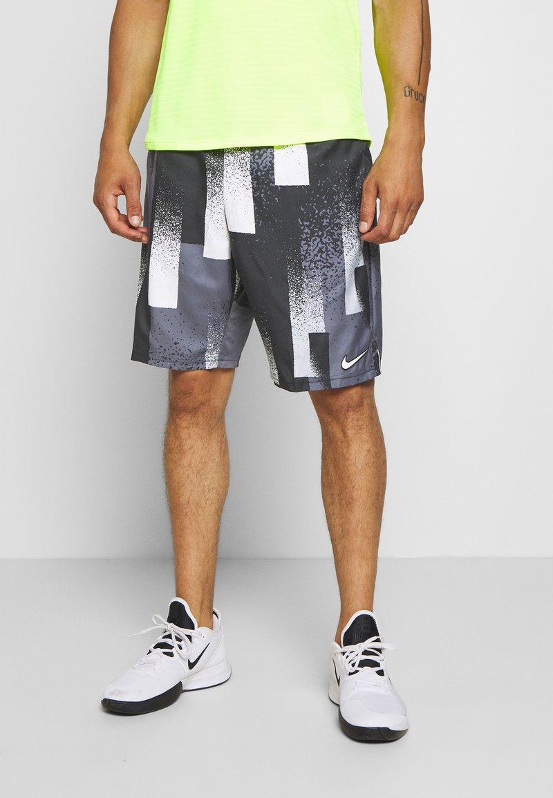 Nike Performance - DRY SHORT PRINT - Sports shorts - black/white