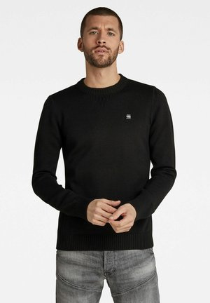 CLASSIC SPORT KNITTED - Pullover - dk black