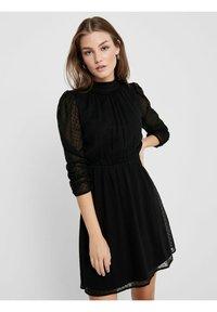 ONLY - LOCKER GESCHNITTENES - Day dress - black - 4
