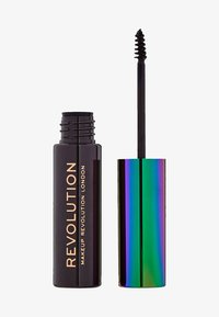 Make up Revolution - HIGH BROW GEL WITH CANNABIS SATIVA - Żel do brwi - dark brown - 0