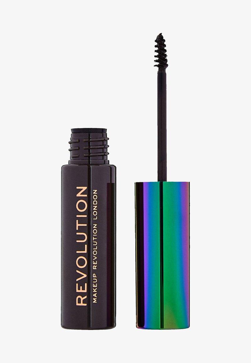 Make up Revolution - HIGH BROW GEL WITH CANNABIS SATIVA - Eyebrow gel - dark brown