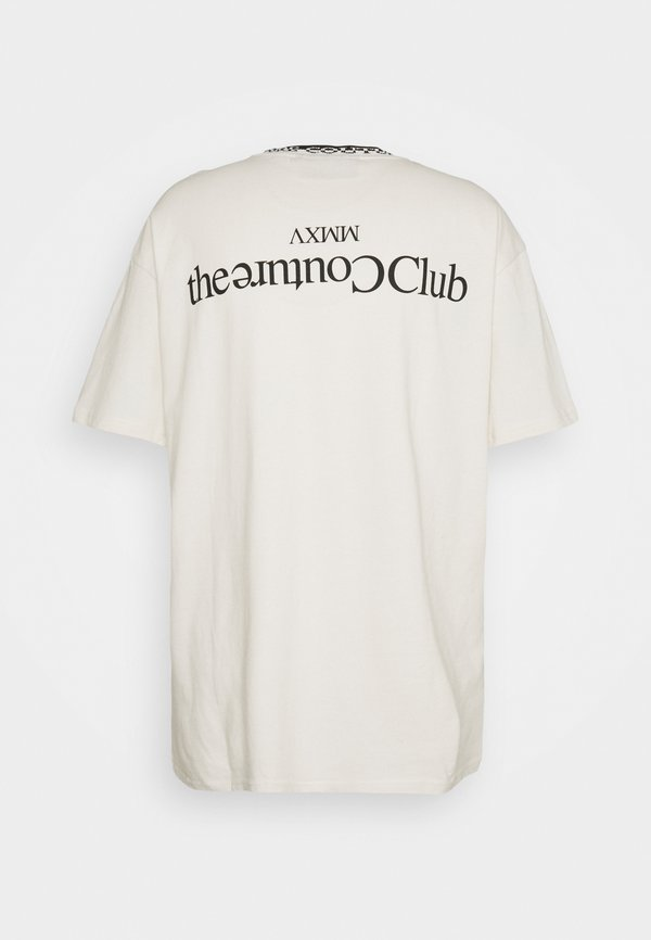 The Couture Club CONTRAST LOGO JACQUARD - T-shirt z nadrukiem - off white/mleczny Odzież Męska BWNK