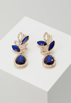 PCBLUE EARRINGS - Earrings - gold coloured/blue/clear