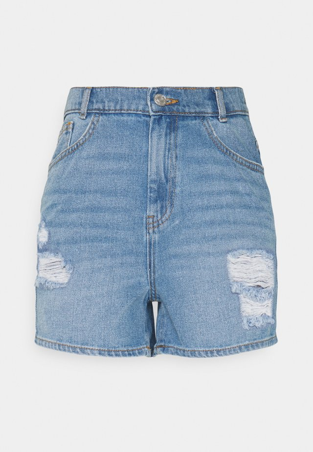 NMLOTTIE SKATE - Jeansshorts - light blue denim