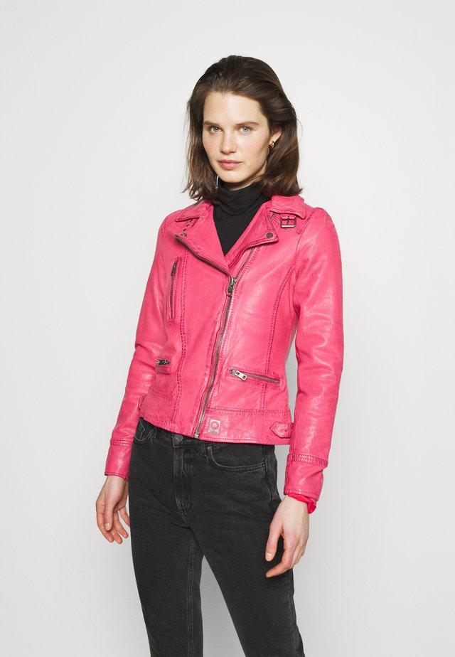 Kožená bunda - pink