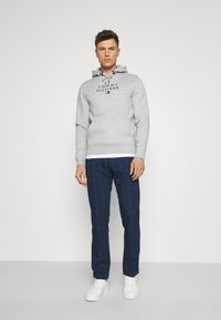 Tommy Hilfiger Tailored - DENTON ACTIVE POW CHECK TURN UP - Trousers - desert sky - 1