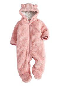 Next - PINK BEAR FLEECE ALL-IN-ONE (0MTHS-2YRS) - Overal - pink - 0