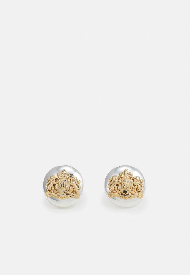 BASIC CREST STUD - Earrings - silver-coloured