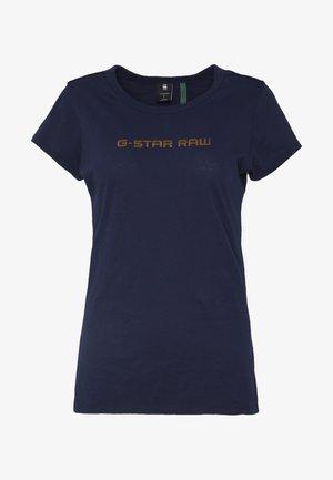 EYBEN SLIM - Basic T-shirt - sartho blue