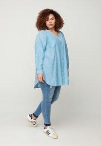 Zizzi - Blouse - blue stripe - 1