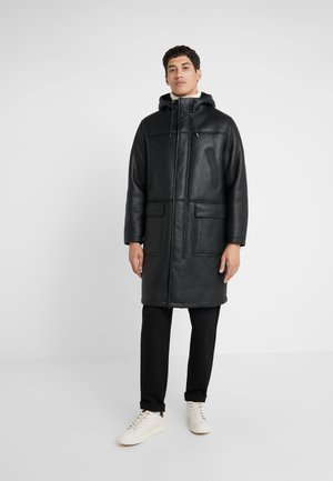 EASTON - Leather jacket - black