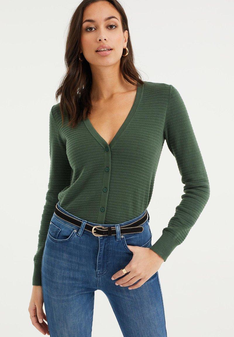 WE Fashion - Cardigan - dark green