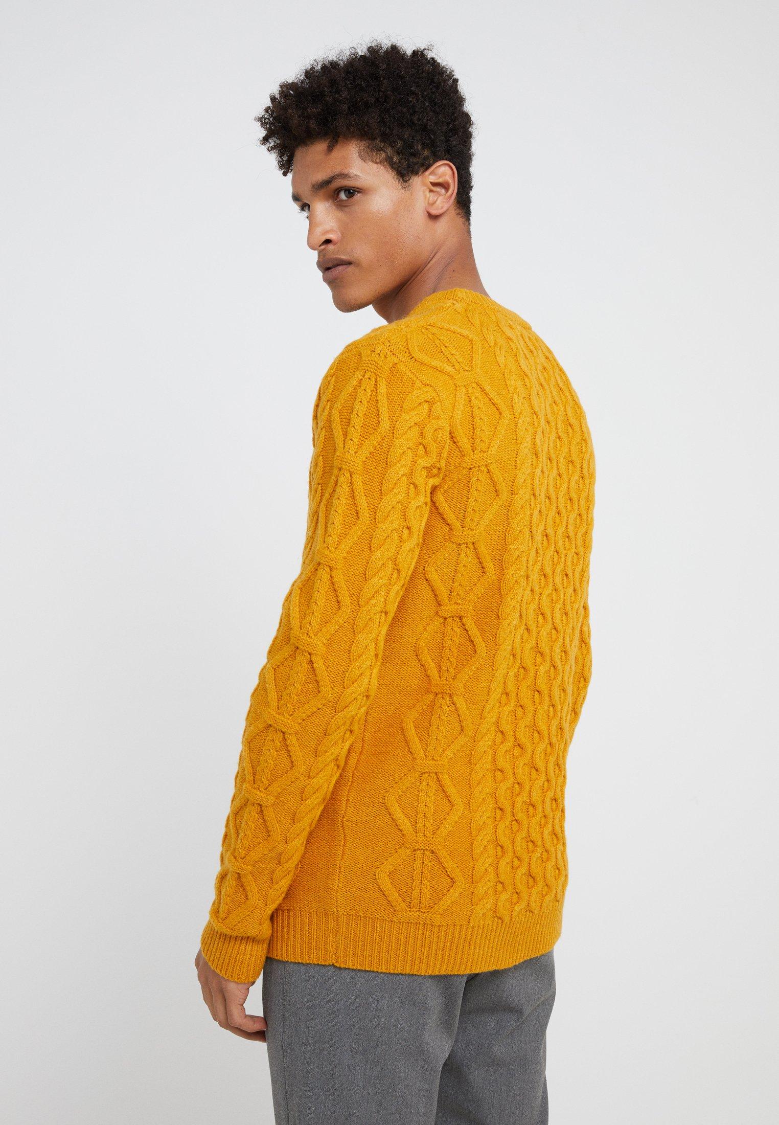 Les Deux PIGALLE CABLE Trui yellow sunflowergeel