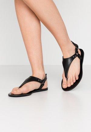 WIDE FIT TAMPA - Flip Flops - black