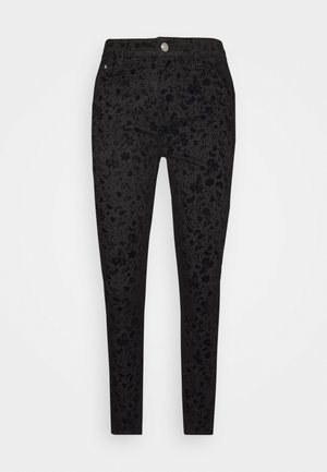 PANT WALLPAPER - Jeansy Slim Fit - black