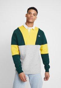 adidas Originals - SAMSTAG RUGBY SHIRT LONG SLEEVE PULLOVER - Mikina - grey, yellow - 0
