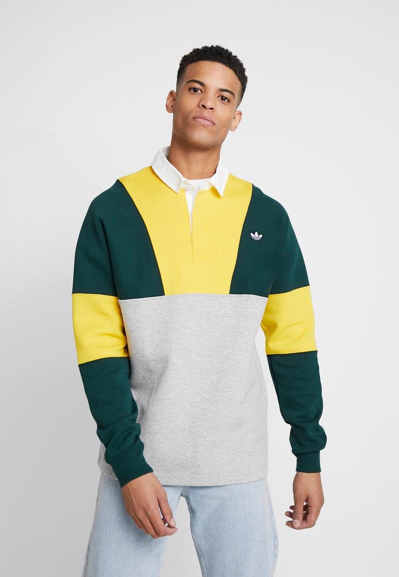 adidas Originals - SAMSTAG RUGBY SHIRT LONG SLEEVE PULLOVER - Mikina - grey, yellow