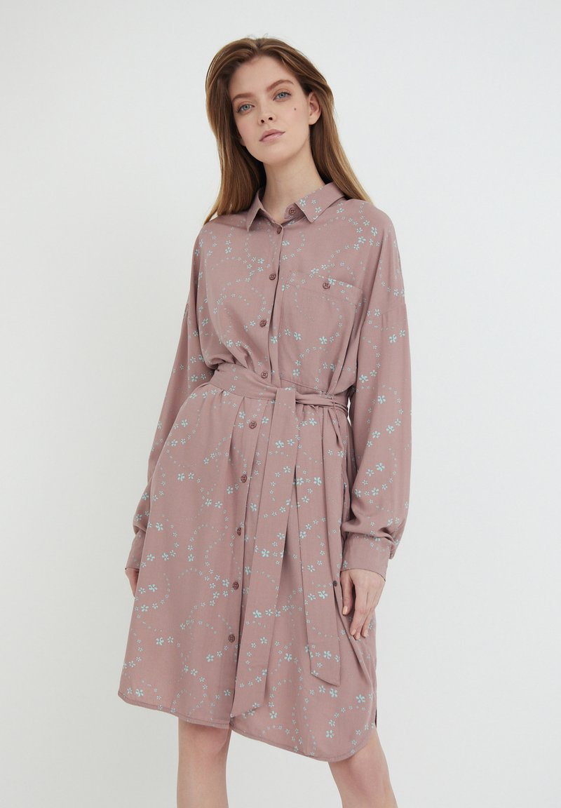 Finn Flare - Shirt dress - brown