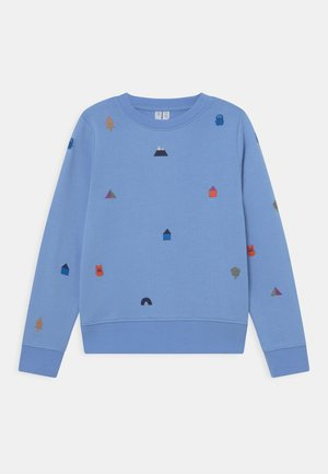 Sweatshirt - blue/white
