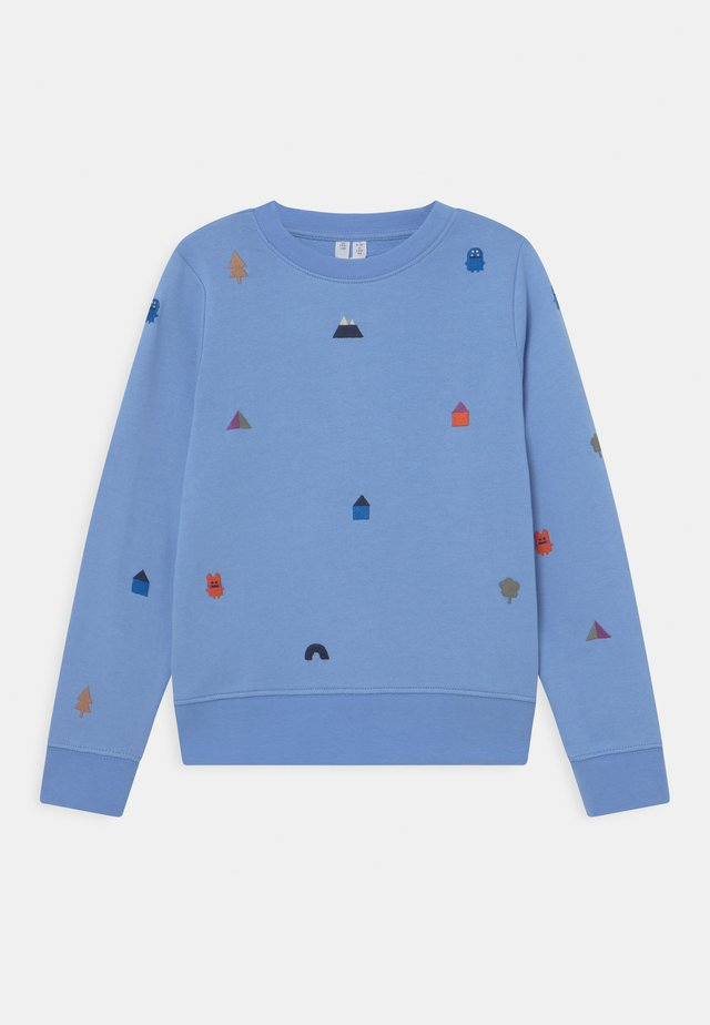 Sweater - blue/white